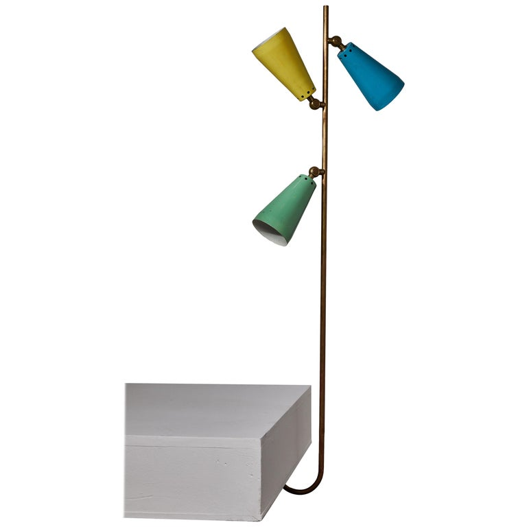 Three Shade Desk Lamp by Arteluce For Sale
