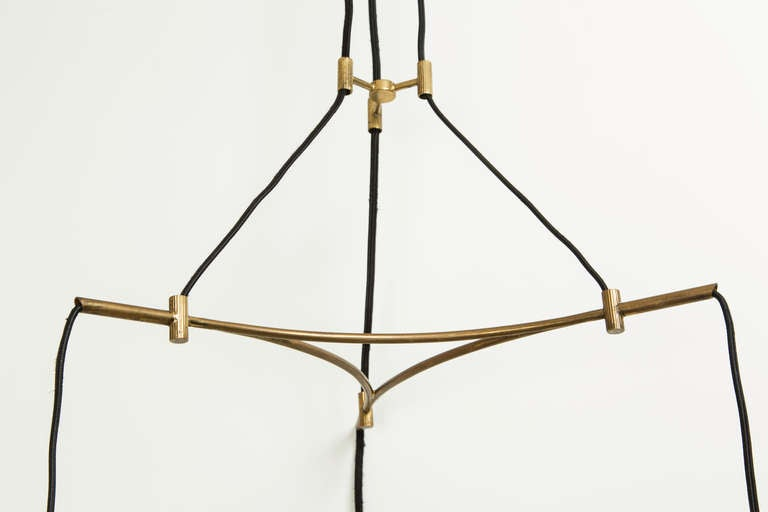 Mid-20th Century Three Shade Italian Chandelier For Sale