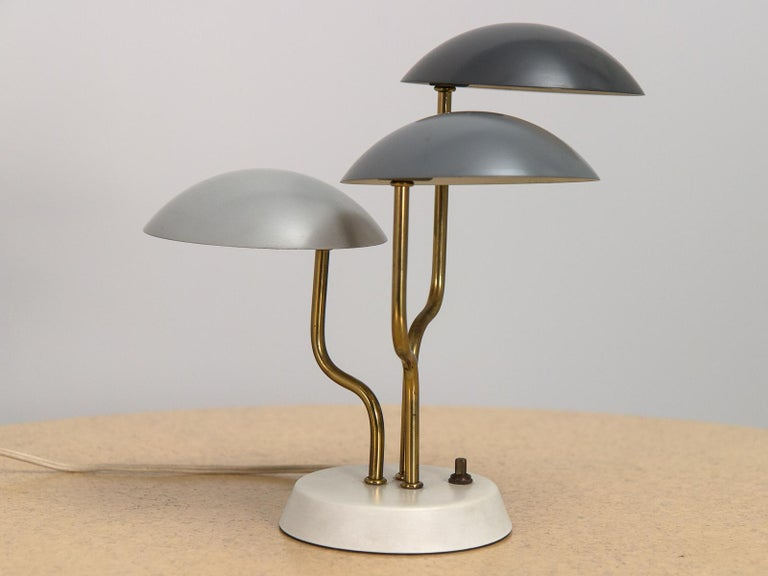 Mid-Century Modern Three-Shade Lamp by Gino Sarfatti For Sale