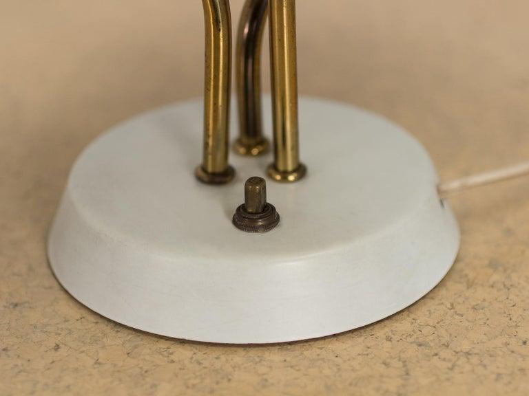 Enameled Three-Shade Lamp by Gino Sarfatti For Sale