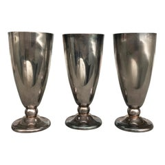 Three Silver Plated Lucerne or Luzern Grüter-Suter Goblets, Switzerland