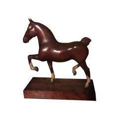 Three Spectacular Peter Giba Horse Sculptures Along With Three P Giba Head Sculp