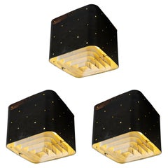 """Three """"Starry Sky"""" Exterior Ceiling Lights by Paavo Tynell"""