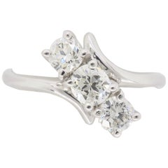 Three-Stone Bypass Diamond Ring