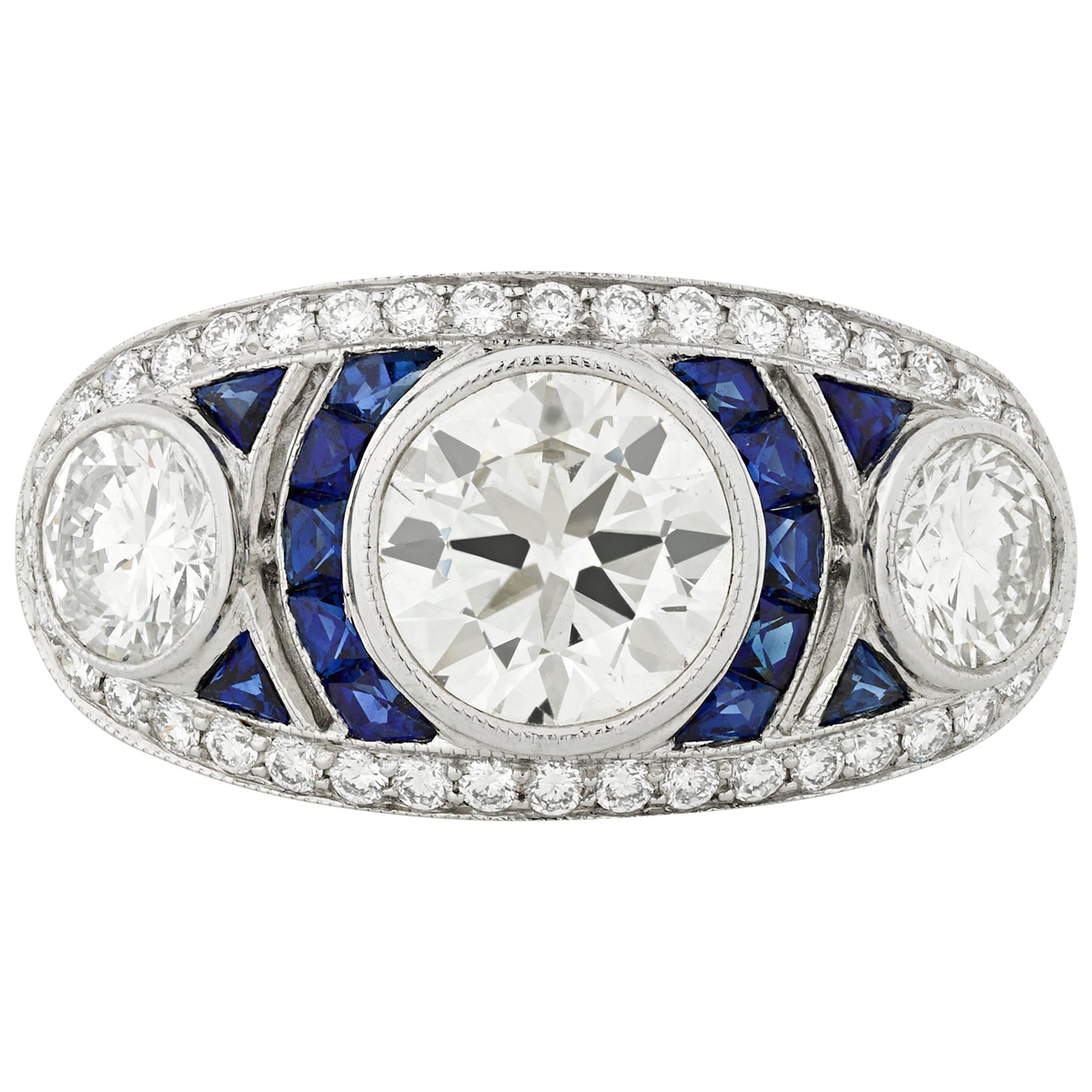 c957bafc51721 Art Deco Three-Stone Rings - 235 For Sale at 1stdibs