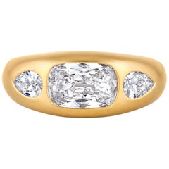 Three-Stone Diamond Gypsy Ring