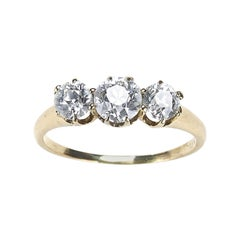 Three-Stone Diamond Ring 1.30 Carat