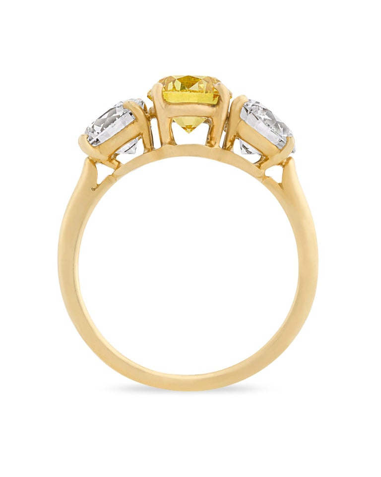Modern Three-Stone Diamond Ring by Cartier For Sale