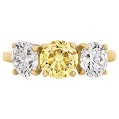 Three-Stone Diamond Ring by Cartier