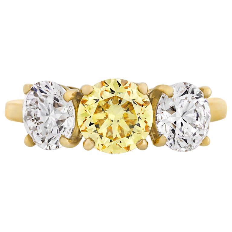 Three-Stone Diamond Ring by Cartier For Sale
