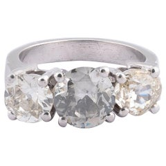 Three-Stone, Diamond Ring