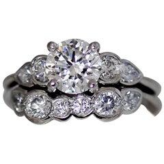 Three-Stone Diamond Round Engagement Ring