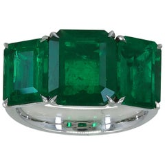 Three-Stone Emerald Gold Ring