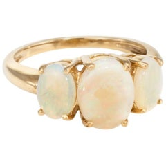 Three-Stone Opal Ring
