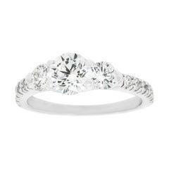 Three Stone Platinum Engagement Ring