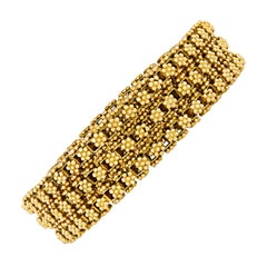 Three-Strand 18 Karat Yellow Gold Bracelet
