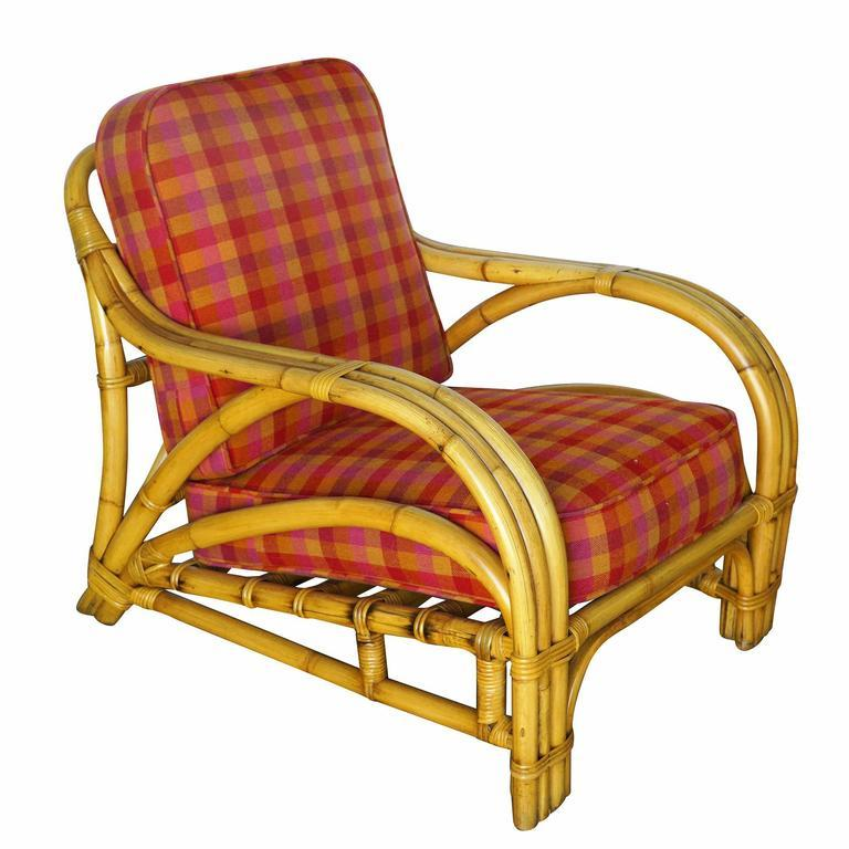 "Restored Three-Strand ""1940s Transition"" Rattan Lounge ..."