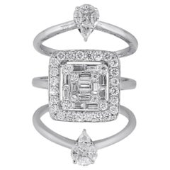 Three-Strand Multi Diamond Ring