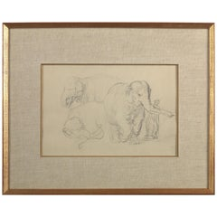 Three Studies of an Elephant, Print of an Rembrandt van Rijn