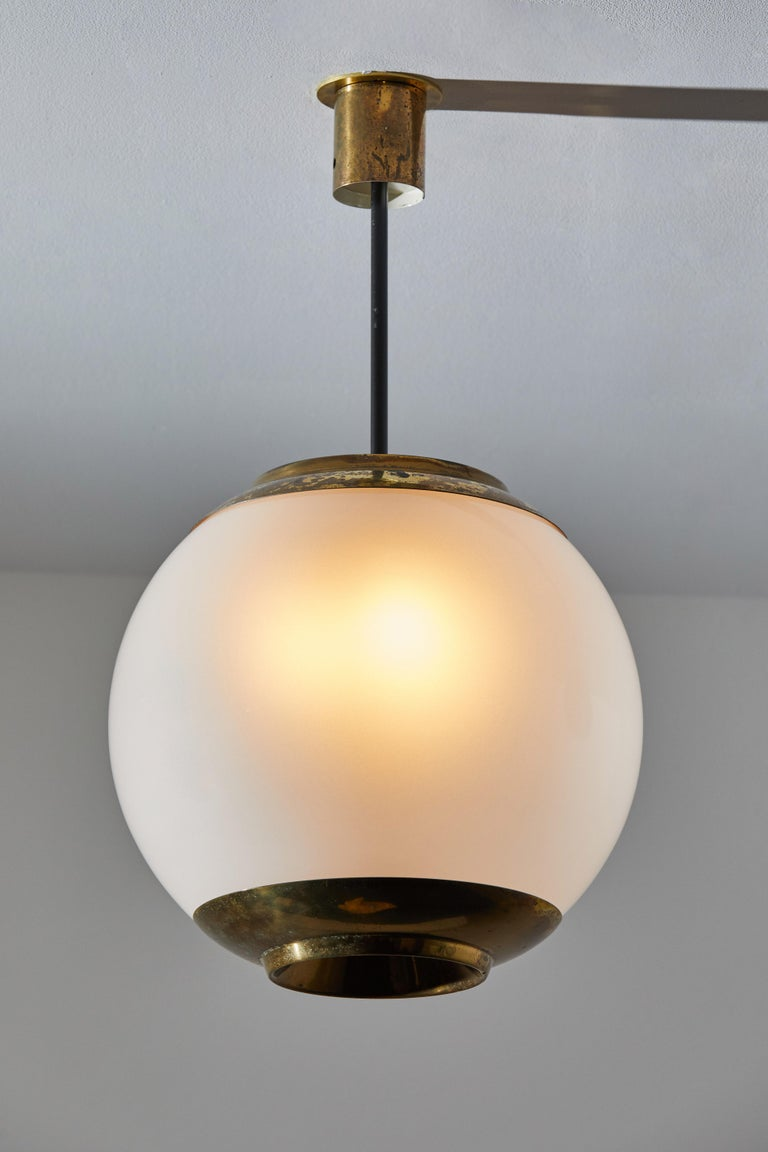 Mid-Century Modern Three Suspension Lights by Caccia Dominioni for Azucena For Sale