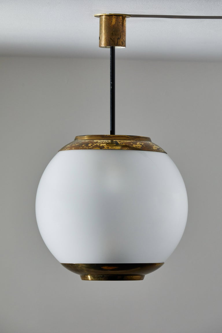 Three Suspension Lights by Caccia Dominioni for Azucena In Good Condition For Sale In Los Angeles, CA