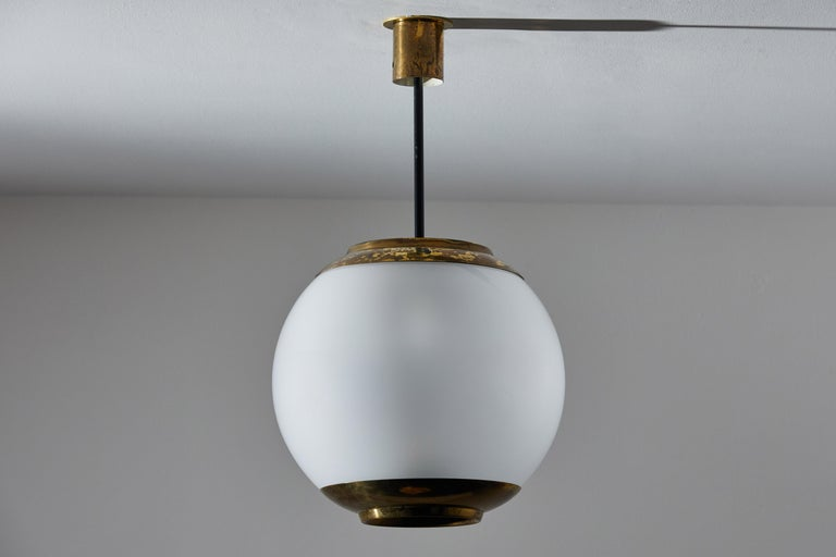 Mid-20th Century Three Suspension Lights by Caccia Dominioni for Azucena For Sale