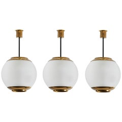 Three Suspension Lights by Caccia Dominioni for Azucena