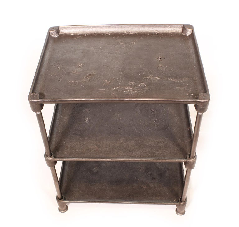 Three-Tier Cast Iron Table For Sale 5