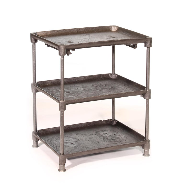 American Three-Tier Cast Iron Table For Sale