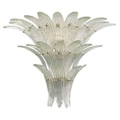 Three-Tier Clear Palmette Wall Sconce