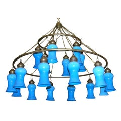 Three-Tier Egyptian Teardrop Chandelier