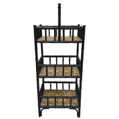 Three-Tier Faux Bamboo Storage Shelf / Étagère by Palacek