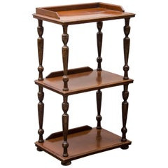 Three-Tier Mahogany Étagère, England, 19th century