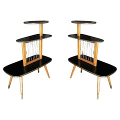 Three-Tier Midcentury French Side Tables, Set