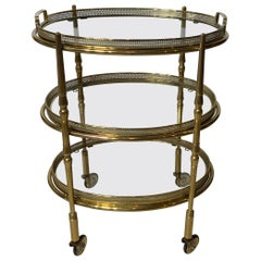 Three-Tier Solid Brass Vintage Desert Stand Table