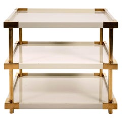 Three-Tier White Lacquered Table
