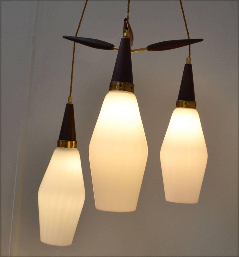 Mid-20th Century Danish 1950's Chandelier Three-Tiered  For Sale