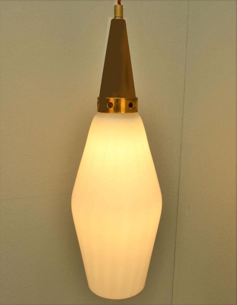 Scandinavian Modern Three-Tiered Danish 1950's Chandelier Glass & Teak For Sale