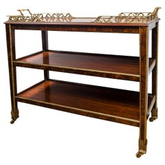 Three-Tiered Serving Trolley on Casters