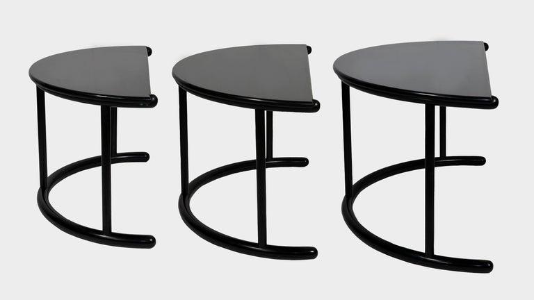 Three Tria Coffee Table, Gianfranco Frattini for Morphos, Acerbis, 1980s For Sale 6