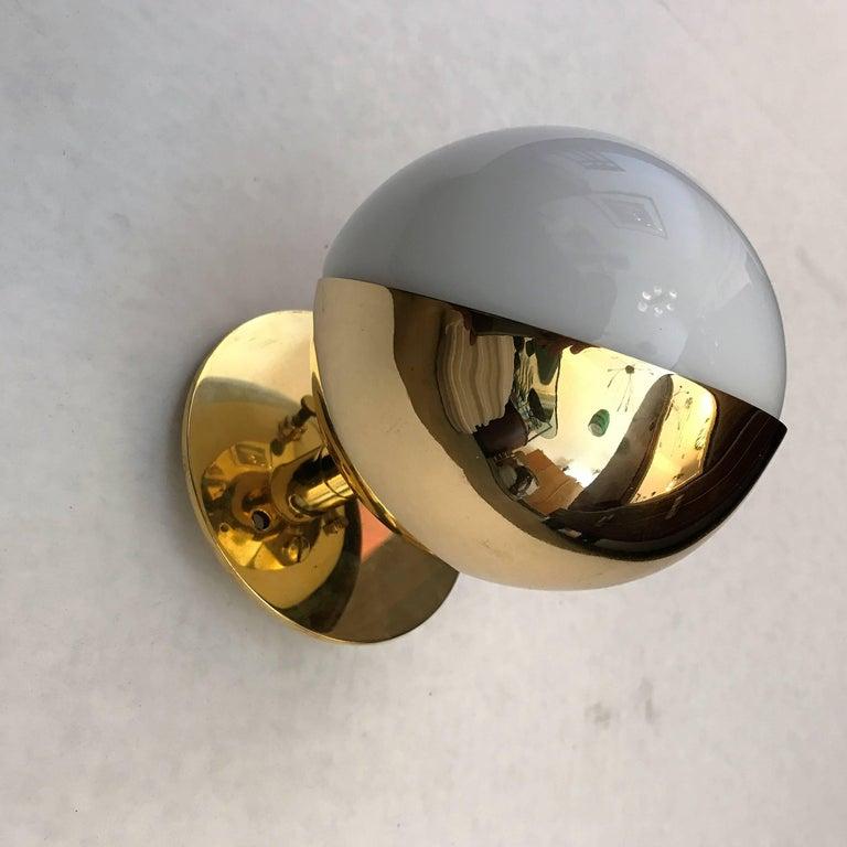 Bauhaus Three Vilhelm Lauritzen Radiohaus Wall Lights For Sale