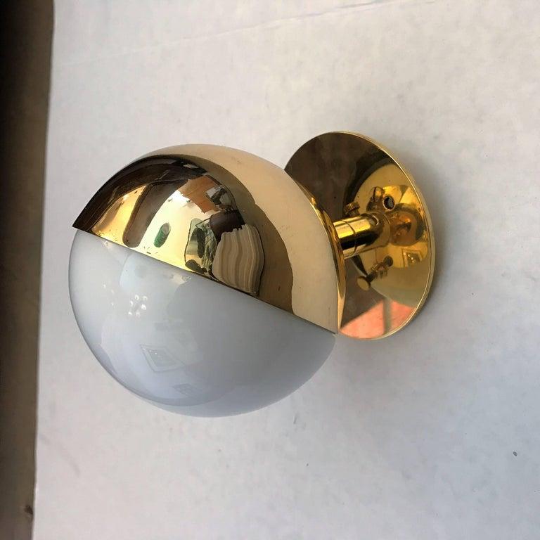 Brass Three Vilhelm Lauritzen Radiohaus Wall Lights For Sale