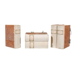 Three Vintage Faux-Book Decorative Boxes from an Italian Winery, circa 1940