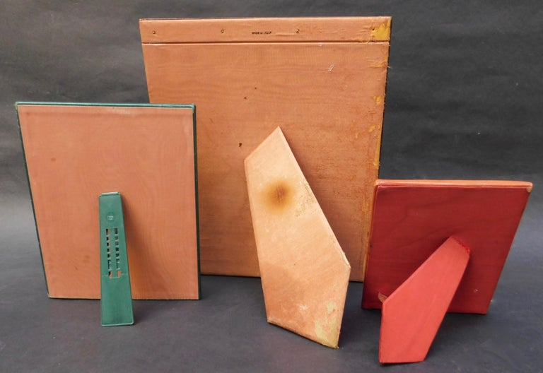 20th Century Three Vintage Leather Photo Frames For Sale