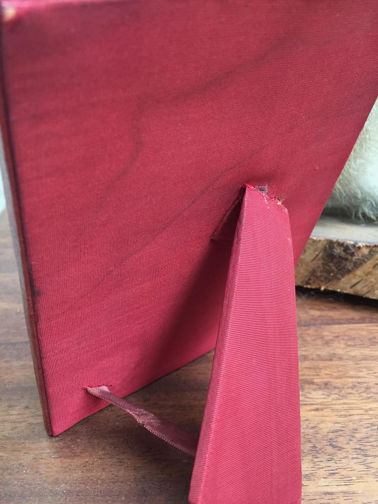Three Vintage Leather Photo Frames For Sale 1