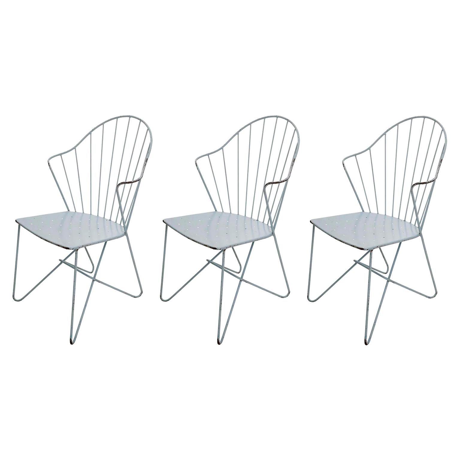 Three Wire Chairs 'Auersperg' Sonett, Karl Fostel, Austria, 1950