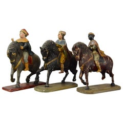 Three Wise Men 18th Century Carved Figures