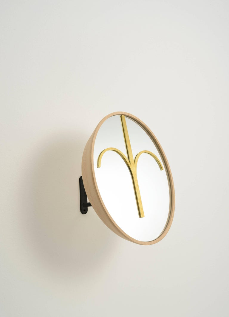 Contemporary Three Wise Mirrors, Minimalist Ethnic Sculptures Inspired by African Masks For Sale