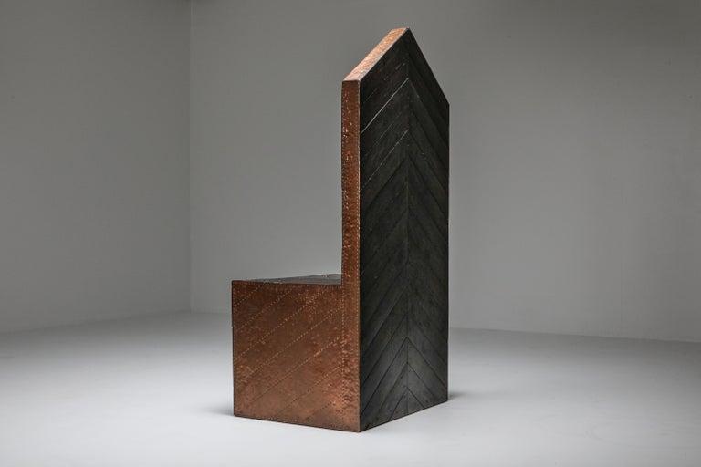 Post-Modern Throne Chair by Lorenzini For Sale