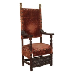Throne Walnut, Italy, 17th Century
